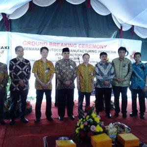 Ground Breaking Atau Peletakan Batu Pertama Pembangunan PT SAMI JF - Lahan Mayong EPZ P3